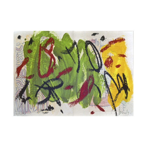 Serigrafia de Sergi Barnils per a l'edició d'art d'Ocnos i el parat esglai