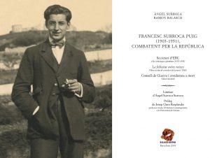 Primera pàgina del llibre Francesc Surroca Puig (1903-1951), combatent per la República